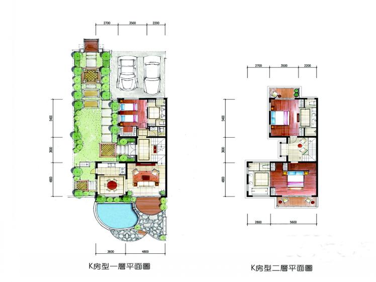 K户型 3房2厅3卫 约183平