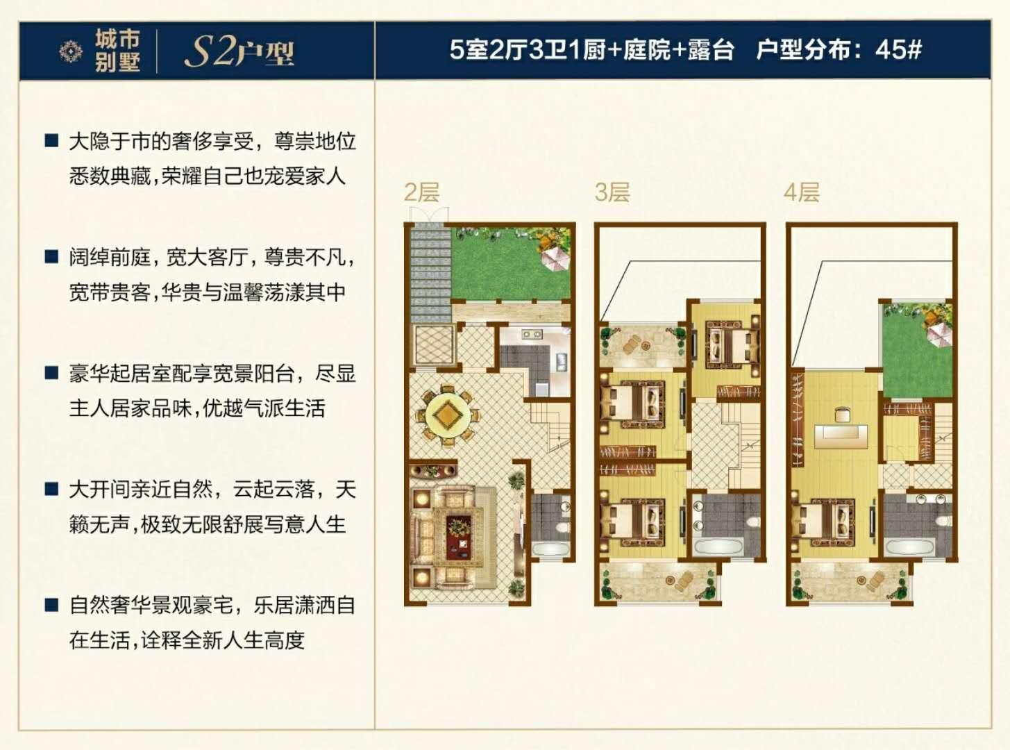 45#S2户型 5房2厅3卫