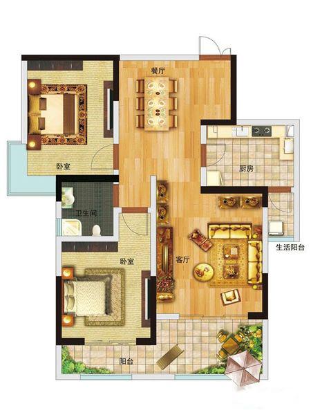 2室2厅2卫 89.80㎡