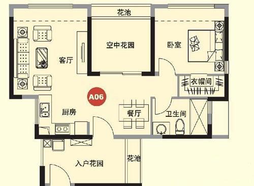 1室2厅1卫 75.00㎡