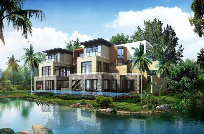 鸿洲江山现房在售面积为353-516㎡ 毛坯均价30000元/㎡
