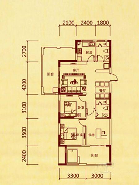 3室2厅1卫 136.99㎡