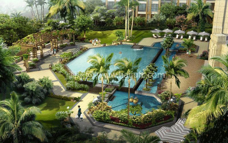 椰岛小城主体内部装修阶段