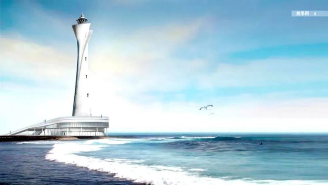 北部湾第一座!北海银滩铜凤灯造型航标灯塔明年建成!